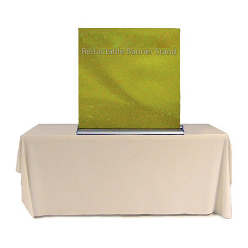 """36"""" Tabletop Retractable Banner Stand Fabric Print"""