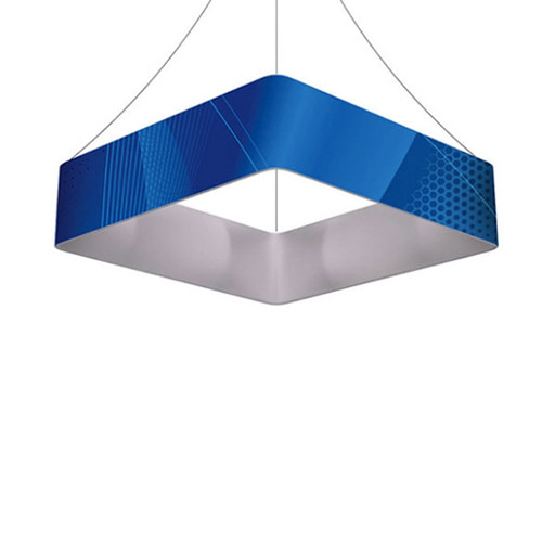 Square Hanging Banner 15ft - 36in with Outside Graphic
