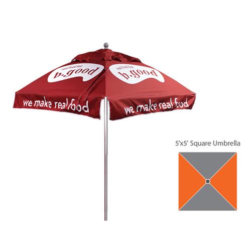5'x5′ – Square Umbrella – Fully Printed