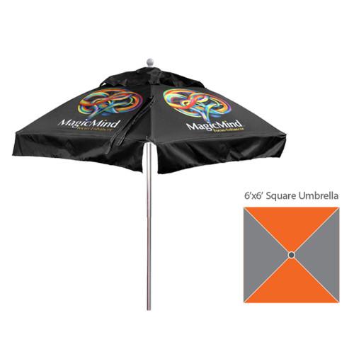 6'x6′ – Square Umbrella – Fully Printed
