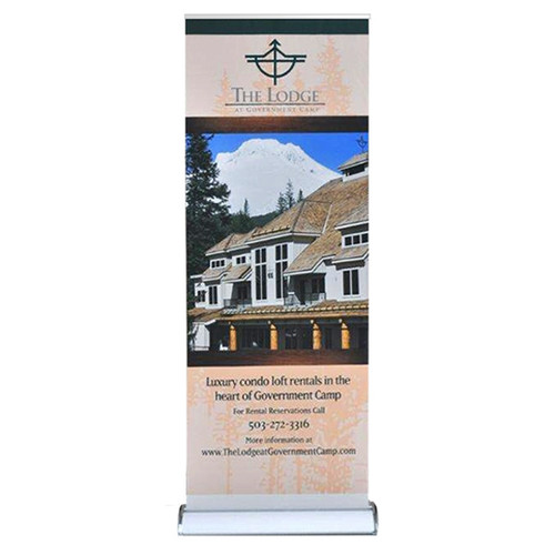 """33.5"""" Tall Retractable Banner Stand 33.5"""" X 96"""" with Vinyl Graphic"""
