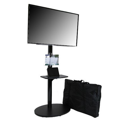 Monitor Stand Kiosk EZ StandTall ONE Portable 70 Inch High Flat Panel Display Stand for 28-70 Inch TV's