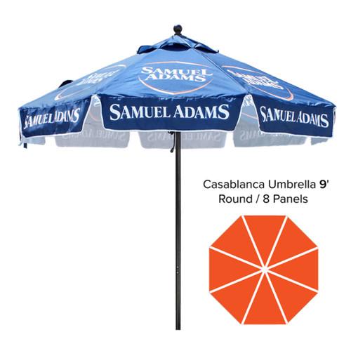 9′ – Café Umbrella – Fully Printed