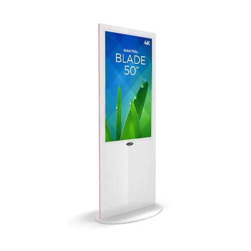 "Blade 50"" - 4K Digital Signage Kiosk - Blade Kiosk, White, Pro Interface, Touch (BLADE-WPT50)"