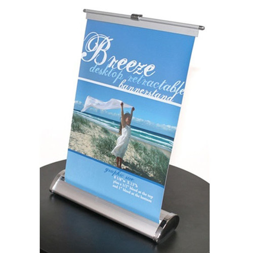 """Tabletop Retractable Banner Stands 8.375""""w x 10.25""""h"""