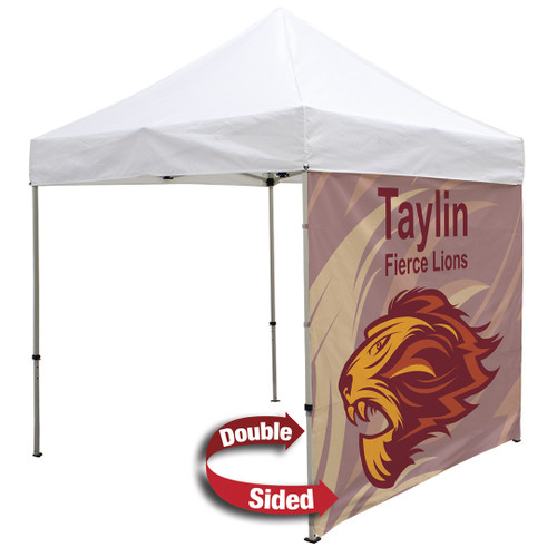 8' Tent Full Wall (Dye Sublimated, Double-Sided) (240921)