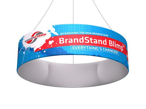 Blimp Circular Hanging Signs - Tube