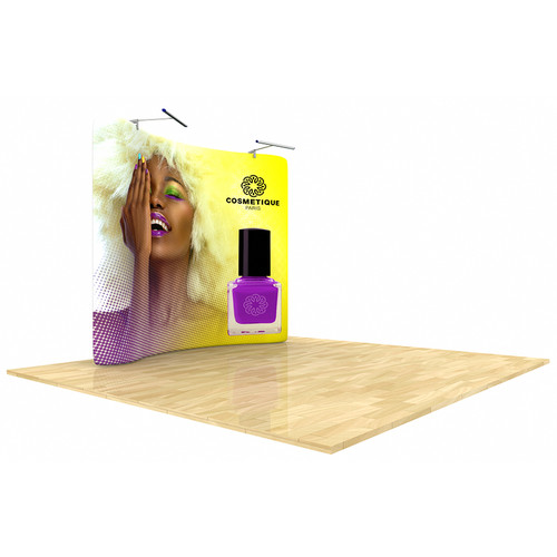 Wave Tube Display 8ft Curved with Double-Sides Graphic (WT8C2)