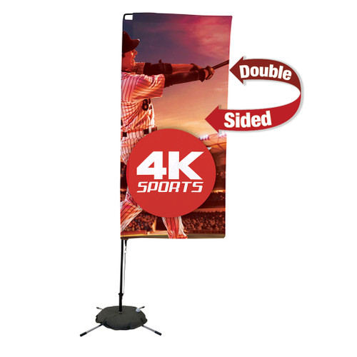 7' Streamline Rectangle Sail Sign Flag Kit (Double-Sided with Scissor Base) (191423)