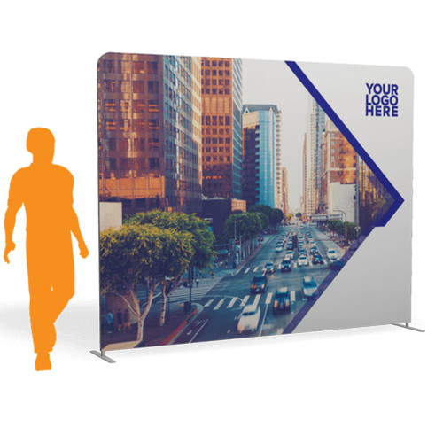 10'x 7.5′ Quick-N-Fit Tension Wall Straight- Single Sided Printing w/ Hardware