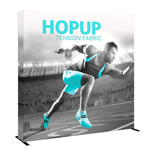 8ft Hop up Fabric Pop up Display