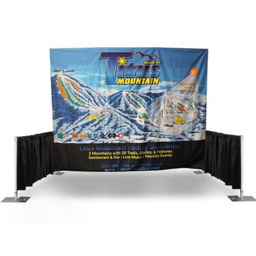10'x8′ Printed Tradeshow Backdrop w/ Hardware
