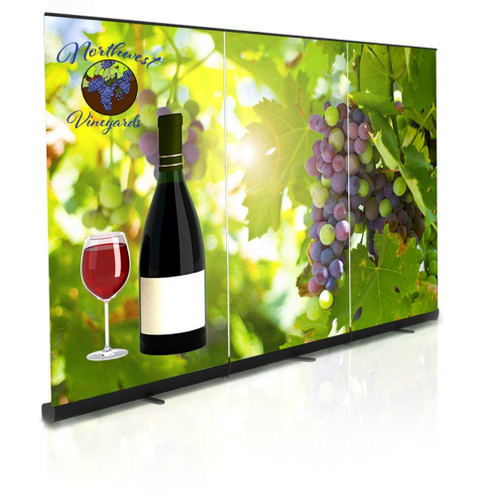 10ft Premium II Retractable Banner Stands Wall (Includes Graphics)