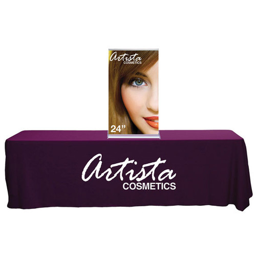 """24"""" SilverStep Retractable Banner Stand Tabletop"""