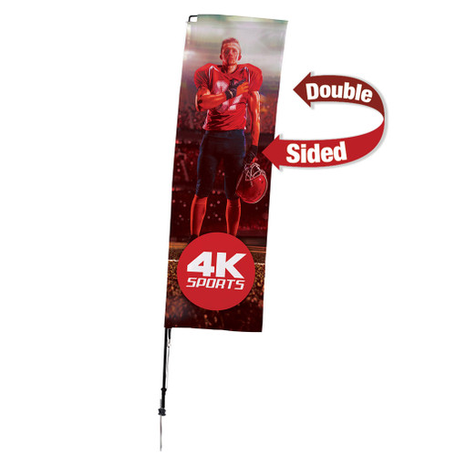 10' Streamline Rectangle Sail Sign Kit (Double-Sided with Ground Spike) (191424)