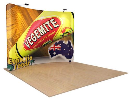 10ft WaveLine Curved Fabric Display (WL-KG-43C)