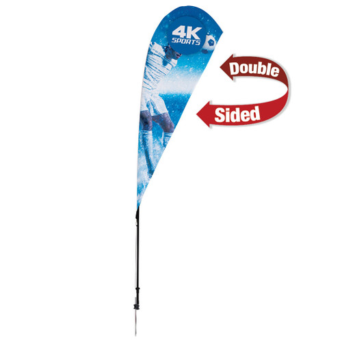 8' Streamline Teardrop Sail Sign Flag Kit (Double-Sided with Ground Spike) (191410)