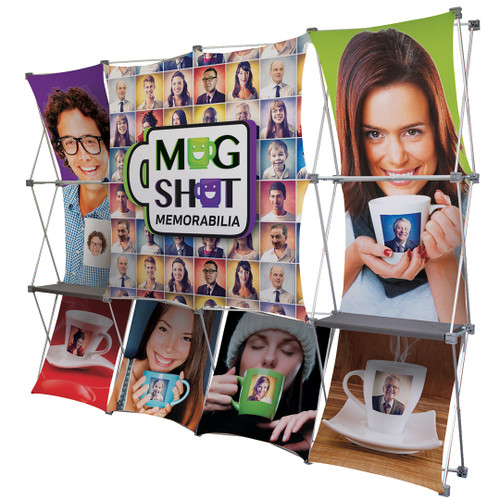 10ft Deluxe Geometrix 12 Qd Fabric Display Kit (342018)