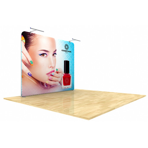 Wave Tube Display 8ft Straight with Graphic (WT8S1-RC)