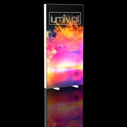 LumiWall 3' x 6' LED Backlit Printed Fabric Display