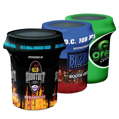Printed Spandex Bin Covers Trash Can Covers Outdoor Event Display