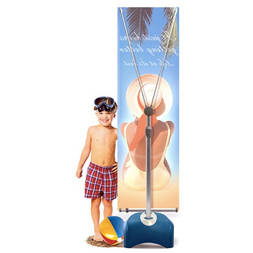 Outdoor Banner Stand, Single Sided with one 2'x 5' Graphic