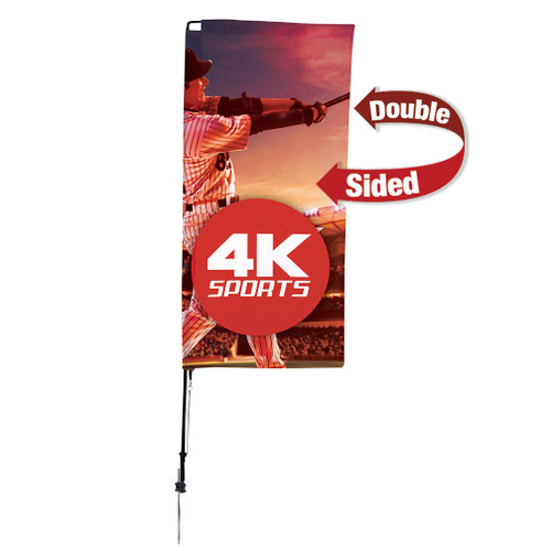 7' Streamline Rectangle Sail Sign Flag Kit (Double-Sided with Ground Spike) (191422)