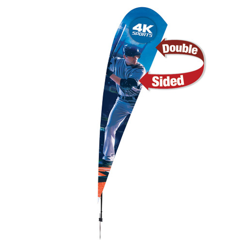 15' Streamline Teardrop Sail Sign Kit (Double-Sided with Ground Spike) (191414)