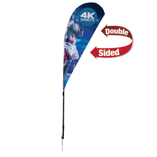 6' Streamline Teardrop Sail Sign Kit (Double-Sided with Ground Spike)