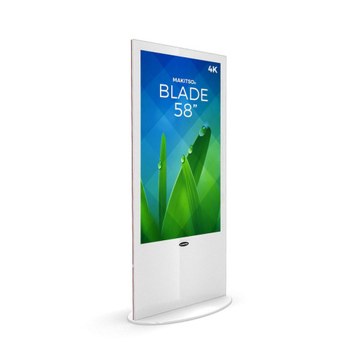 "Blade 58"" - 4K Digital Signage Kiosk - Blade Kiosk, White, Pro Interface, Touch (BLADE-WPT58)"