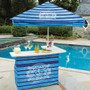 Bar Set W/ 6′ Umbrella and 4 Stools – Fully Printed