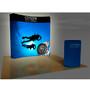 8ft VBURST Curved Backlight Fabric Pop-up Display Kit