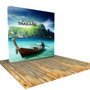 8ft VBURST Flat Backlight Fabric Pop-up Display Kit