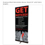 """Premium Retractable Banner Stand 34"""" with Fabric Graphic"""