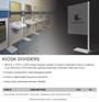 Provide Protection & Separation with Kiosk Dividers