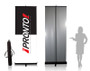 "Pronto Roll-Up Banner Stand 33.5""w x 87""h with Dye Sub Fabric Banner"