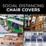 Social Distancing Fabric Chair Covers - Stock Designs
