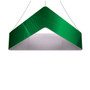 8ft Triangle Hanging Banner 24in with Outside Graphic