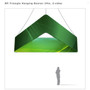 Triangle Hanging Banner 8ft - 24in with Outside Graphic
