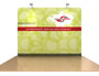 8ft Waveline Straight Wall Fabric Display (WL33FL-PCC)