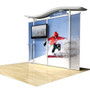 "10ft Timberline Monitor Display with Straight Fabric Sides, Holds up to 50"" Monitor"