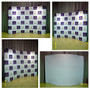 8ft WaveLine Wide Curved Tabletop Fabric Display
