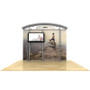 10ft Timberline Monitor Display w/ Arch Top & Straight Fabric Sides (TL1002AFS-TV)