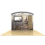10ft Timberline Monitor Display with Arch Top and Slat Wall Wings (TL1002ASW-TV)