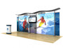 20ft Timberline™ Light Box Display w/ Wave Top & Straight Fabric Sides (TLB20-S)