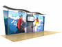 20ft Timberline Light Box Display w/ Wave Top & Tapered Fabric Sides (TLB20-T)
