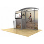 10ft Timberline Arch Top Monitor Display with Closet Storage