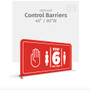 "40"" WaveLine® Control Barrier Double-sided"