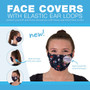 Imprinted Face Cover with Elastic Ear Loops (Sold in packs of 12 identical masks) (108063)