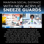 Acrylic Sneeze Guards